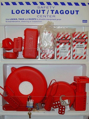 Lockout/Tagout Safety Center Board